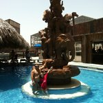 Fountain at the Resort in the hot tub swim up bar-great drinks-you can byob in this area!!