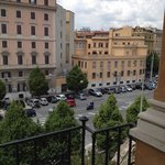 Viale castro Pretorio as seen from the balcony