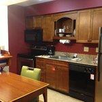 Kitchen in studio unit