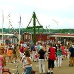 Midsummer celebrations under the maypole
