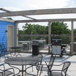 Cleveland Hostel rooftop patio & BBQ