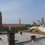 Downtown Cleveland as seen from rooftop patio