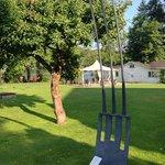 Skulptur im Garten
