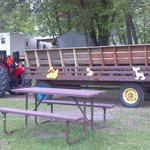 Heres what the hayride wagon looks like with the new benches
