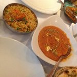 Chicken Tikka Masala and Special Fried Rice
