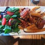 Grilled Quail w/ salad, piri-piri glaze & fries