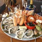 plateau fruit de mer: 40 €