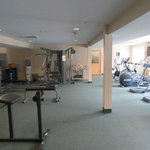 exercise room off outdoor pool area