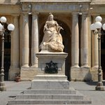 Queen Victoria outside the Library