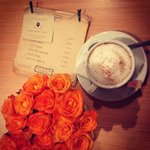 Cappuccino and our menu