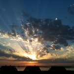Sonnenuntergang am Wieker Hafen