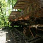 Stumphouse Tunnel - Eisenbahnwagon