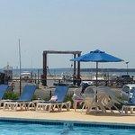 pool overlooking water