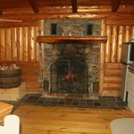 Cabin 5 fireplace
