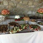 il buffet degli antipasti per il nostro matrimonio