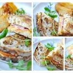 Ham, cheese & tomato on freshly baked ciabatta