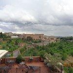 Vista terraza hotel hacia el valle