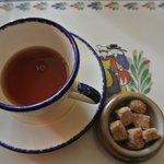 Le thé avec sucre