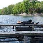 my wife tired after fishing