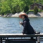 my wife fishing