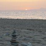 Sunset 9on the beach