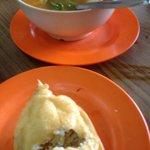 stuff crab and tom yam soup