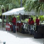 steel band entertainment for bbq lunch