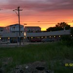 Sunset over the Anchor Motel