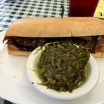 Philly Steak and Turnip Greens