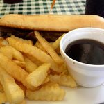 French Dip and Seasoned Fries