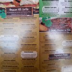 Menu options & prices