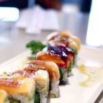 Delicious colorful roll