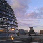 abends auf dem Reichstagsgebäude