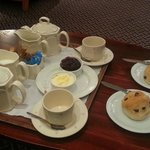 Tea and scones on arrival