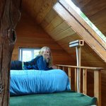 Sleeping quarters at top of tree house