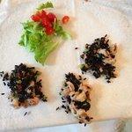 riso Venere con verdure e gamberetti