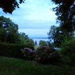 Sunsett in the garden of Waldhaus Jakob