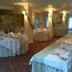 The reception room/ Wedding breakfast