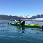 Kayaking around Yukon Island
