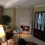 lounge with fire place