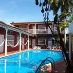 The pool at Casa Relax in Getsemani, Cartagena.