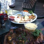 Just two of the excellent meals Creekside Dinery serves