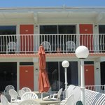 nice deck with oceanview and great place for breakfast and meals, grills available