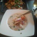 coconut creamy chicken soup (tom kha gai)