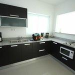 Kitchen, fridge is to the left