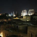 View from Minos rooftop at night