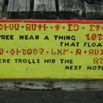 Take part in a Troll Stroll, interpreting Troll clues