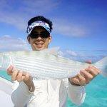 8lb bonefish caught on a plastic lure