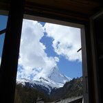 Matterhorn form our room with the most cloud we saw!!!!
