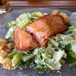 The salmon cesar salad, yummm!!!!